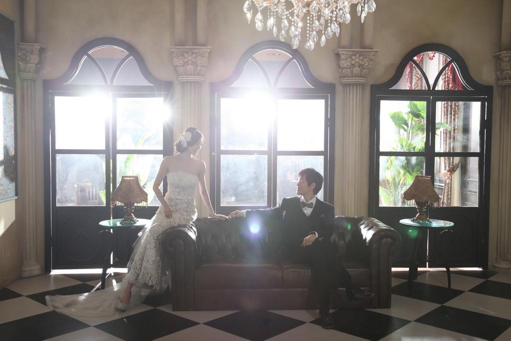 欧式独立婚纱摄影化妆间